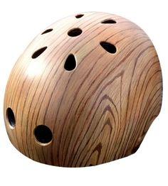 Woodgrain Painted Bike Helmet – Oak by Belle Helmets on Scoutmob Shoppe