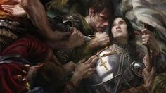 """Joan of Arc"" by Donato Giancola. If you visit the website, there is a video about the creation of the painting."