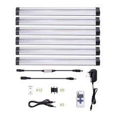 LE 30cm Dimmable Under Cabinet Lighting, 6 Panel Deluxe Kit, Total of 24 Watt, 12 V DC, 1800lm, Warm White, 48W Fluorescent Tube Equivalent, All Accessories Included, LED Light Bar, Strip Lights: Amazon.co.uk: Lighting