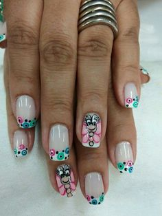 Víѵíɑղɑ Cute Nails, Pretty Nails, Pretty Nail Designs, Paws And Claws, French Nails, Nail Arts, Pedicure, Hair And Nails, Acrylic Nails
