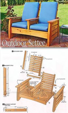 Patio Sette Plans - Outdoor Furniture Plans & Projects | WoodArchivist.com