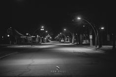 Calle Combate de San Lorenzo,noche de invierno