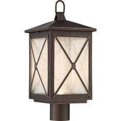 Roxton Umber Bay LED Outdoor Post Lantern