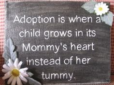 """""""My life has been shaped by the decision two people made over 24 years ago. They decided to adopt a child. They got me, and I got a chance at the kind of life all children deserve."""" ~Karen Fowler"""