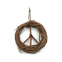 peace sign wreath! How cute.