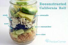 deconstructed california roll mason jar salad recipe