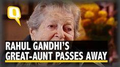 The Quint   Runaway Bride: Shobha, B K Nehru's Jewish Wife Dies at 108