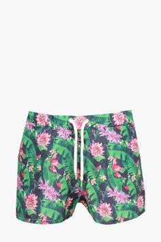 Mens Swim Trunks Pink Love Shape Leopard Pattern Beach Board Shorts