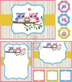 Fiesta de bienvenida al bebé tarjeta de la ilustración Foto de archivo