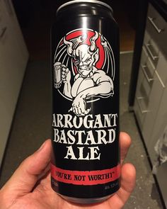 Some of you might have already noticed that I became a huge #craftbeer fan some time ago. This is my actual favorite and the description fits like a glove as well  #arrogantbastard #ipa #paleale #beer #axelritt #ironfinger #the_real_ironfinger @arrogantbastard