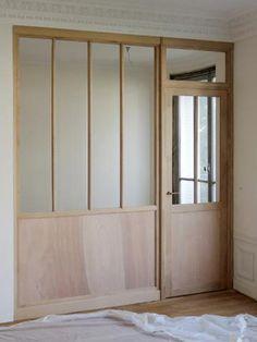 Des profilés en bois plus fins que le métal - Verrière d'intérieur