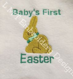 Babys First Easter Bunny Embroidery Design Frame Babys First Easter Bunny Embroidery by LMTEmbroideryDesigns Embroidery Designs, Applique Designs, Embroidery Applique, Machine Embroidery, One Design, Easter Bunny, Frame, Patches, Stitch