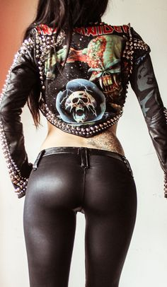Image of TOXIC VISION Iron Maiden Final Frontier studded jacket