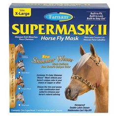 Supermask Ii Without Ears, X-Large Copper Cheetah by Farnham. $22.99. UNITED STATES. Exclusive tri-color shimmer weave reflects your horses unique color. Horseproof double latch closure stablemates cant rip off.