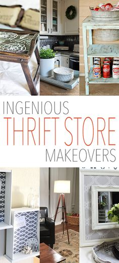 It's that time again…time for another fabulous collection of Ingenious and oh so Creative Thrift Store Makeovers.  It just seems crazy to me that there is a limitless amount of ideas out there for Thrift Store Items…all of the bloggers amaze me with their unique approach to items that haven't seen some love in a …