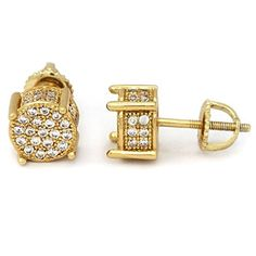f0e5f3131167 Women s Cluster Stud Earrings Sim Diamond Yellow Gold Plated 925 Pure  Silver Description    The images uploaded will not match exactly with the  Original ...