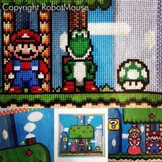 Yoshi's House Super Mario Cross Stitch Pattern von RobotMouseUK