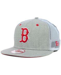 New Era Boston Red Sox Heather Trucker 9FIFTY Snapback Cap Men - Sports Fan  Shop By Lids - Macy s 179cfec139