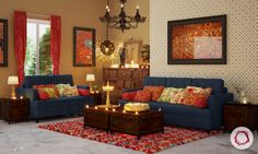 solid wood furniture used in indian style interiors