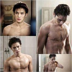 "Kim Jaejoong Shows Off His Sexy Masculinity In Shower Scene for ""Spy"" Korean Star, Korean Men, Korean Actors, Korean Wave, Kim Jae Joong, Tight Abs, Lee Hyun Woo, Choi Jin Hyuk, Perfect Abs"
