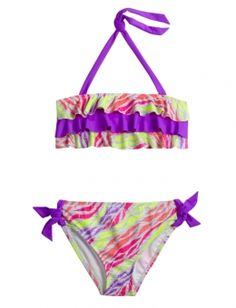 Dye Effect Animal Bikini Swimsuit, at justice I want this swim suit!!!!
