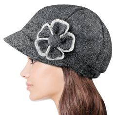 Dahlia Women's Chic Flower Wool Blend Newsboy Hat - Gray Dahlia, HATS and HAIR ACCESSORIES if you wish to buy just CLICK on AMAZON right HERE http://www.amazon.com/dp/B00FBF570W/ref=cm_sw_r_pi_dp_SzG2sb16V1QBG4BF