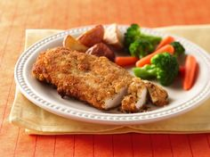 These breaded chicken breasts are crispy and brown on the outside and tender and juicy on the inside. The seasoned crumbs add extra flavor.