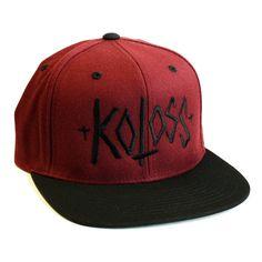 "KOLOSS ""Script"" Snapback Cap Crimson, 29,90 €"