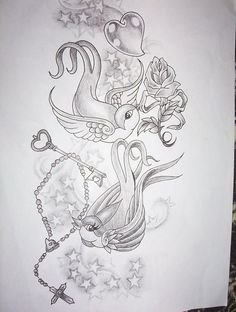 swallow tattoo design - I want this done!