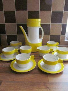 70's Pagnossin Ceramica Linea Schweizer 15 Piece Coffee Set