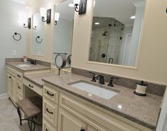 Cambria Bathroom - bathroom countertops - atlanta - CR Home Design K (Construction Resources)