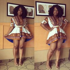 "Natural Hair Styles and Fashion | thickgirlinthinworld: Caution, where this ""dress""..."