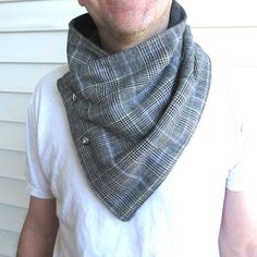 Mens wool scarf-Men's cowl collar scarf mens winter by knitwit321