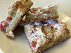 I love rhubarb and this is my favorite way to fix it. I have to make this when I have company over or I will eat the whole thing myself:)...so, so good.