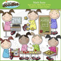 AASDDD4470 Math Susie Clip Art Download