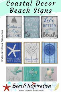 25 Beach Signs And Sayings Wood Plaques Beach Signs Coastal Decor Coastal Style