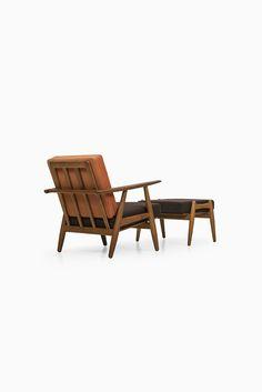 Hans Wegner cigar easy chair with stool at Studio Schalling