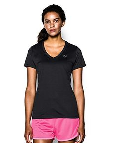 UA Womens Tech V-Neck >>> Click image to review more details. (This is an affiliate link)