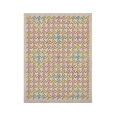 "Empire Ruhl ""Pastel Houndstooth"" KESS Naturals Canvas (Frame not Included)"