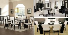 10 idei de mobila dining in alb si negru - combinatia nemuritoare Dining Rooms, Conference Room, Table, Furniture, Home Decor, Homemade Home Decor, Dining Room Suites, Lunch Room, Meeting Rooms