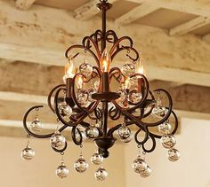 I want this!!!                                           Bellora Chandelier #potterybarn