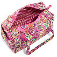 Large Duffel Travel Bag in Pink Swirls | Vera Bradley