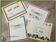 Stampin' Up! Age Awareness Birthday Card set
