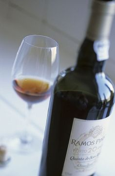 Glass of Ramos Pinto 20 years old, Douro, Portugal