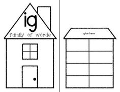 (sample page) WORD FAMILIES: Lift the Flap Activity: Interactive Houses! 20+ templates included. $