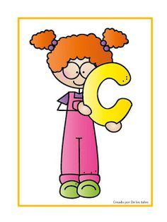 La letra C Teaching Aids, Teaching Resources, Alphabet For Kids, I School, Letters And Numbers, Paper Decorations, School Projects, Banner, Language