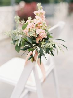 Ceremony flowers: http://www.stylemepretty.com/little-black-book-blog/2015/02/06/elegant-wedding-at-saddle-cycle-club/ | Photography: Kate Ignatowski - http://www.kateignatowski.com/