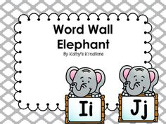 These adorable elephant word wall letters would go well with a zoo theme classroom. Look at the preview to see if you like the size, color and shape of them for your word wall. Word Wall Letters, Letter Wall, Elephant Zoo, Elephants, Grade 2, First Grade, Theme Words, Classroom Themes, Teacher Newsletter