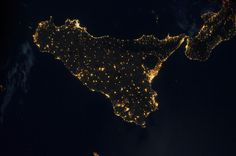 Sicily, Italy (NASA, International Space Station)  author: NASA's Marshall Space Flight Center