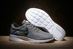pretty nice 4faf1 c7ade Pas Cher Nike Tanjun Premium Mens 876899-002 Cool Grey Black Noir Mesh Running  Shoes